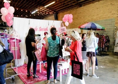 Girl Tribe pop up with pink social